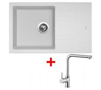 SET drez granit Sinks LINEA 780 N Milk + batéria ELKA