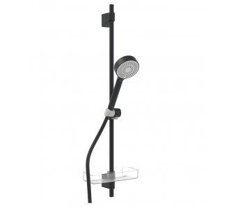 sprchová súprava, ručná sprcha 3-polohová, hadica 1750 mm,  HANSABASICJET, matná čierna