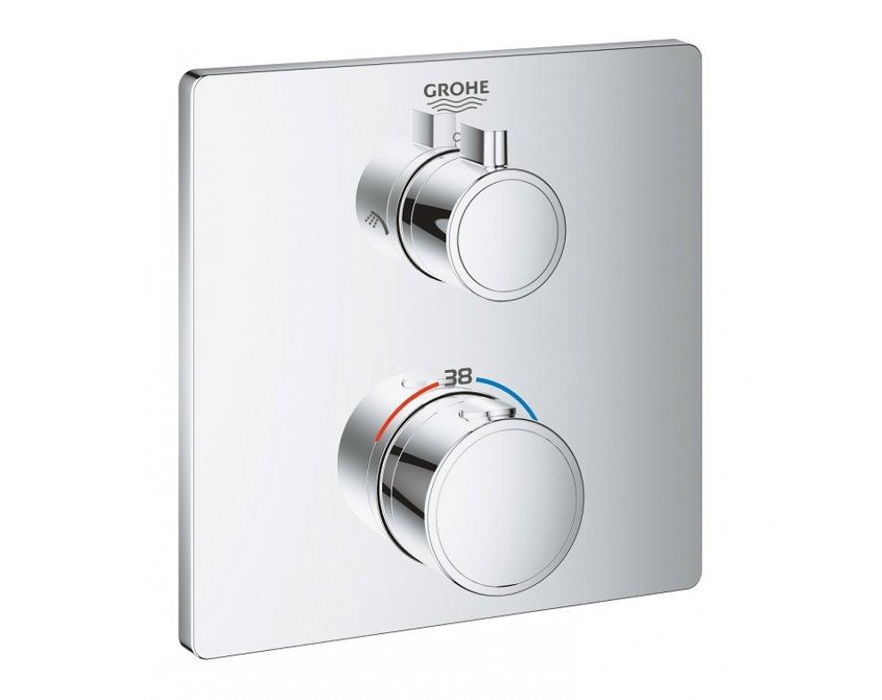 batéria sprchová podomietková termostatická, pre 2 odberné miesta, GROHTHERM, chróm