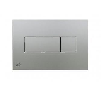 Ovládacie tlačítko k predstenovému inštalačnému systému pre duálne splachovanie chróm - mat