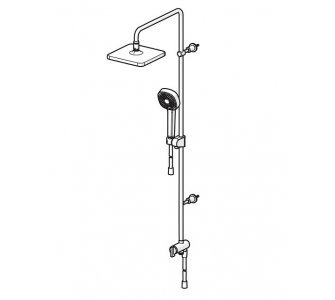 sprchová súprava, hlavica 200x200 mm, HANSABASICJET Style, chróm