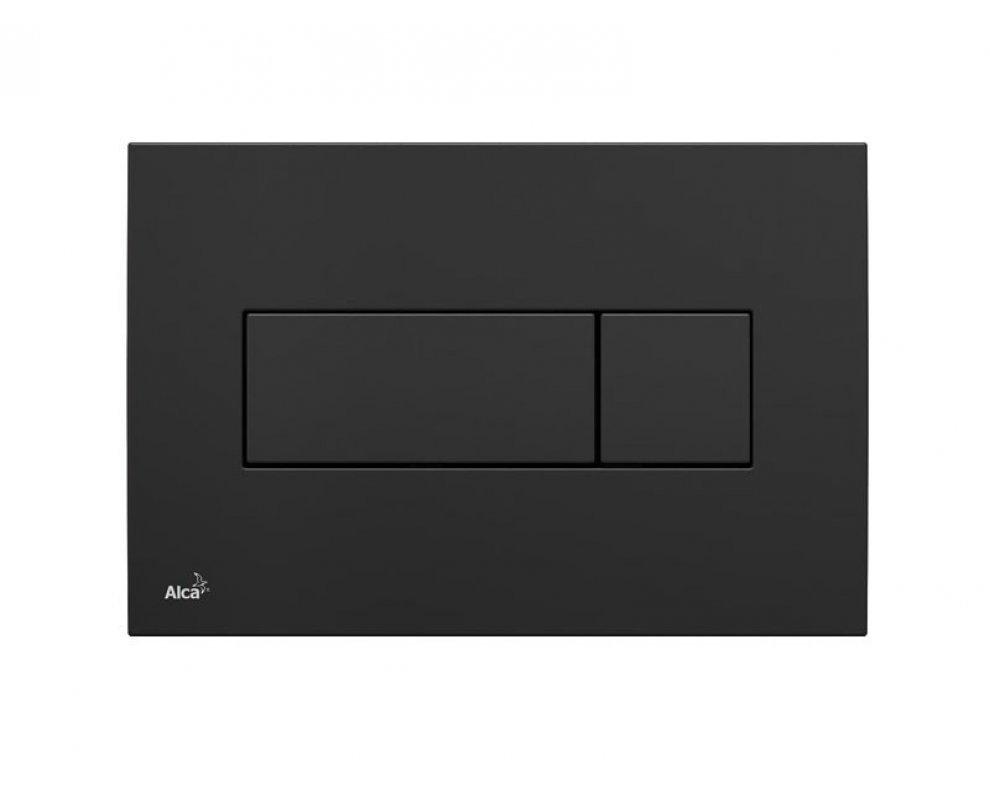 Ovládacie tlačítko k predstenovému inštalačnému systému pre duálne splachovanie čierne