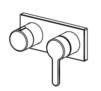 Batéria sprchová podomietková, s pákou, pre 2 odberné miesta, HANSADESIGNO, chróm