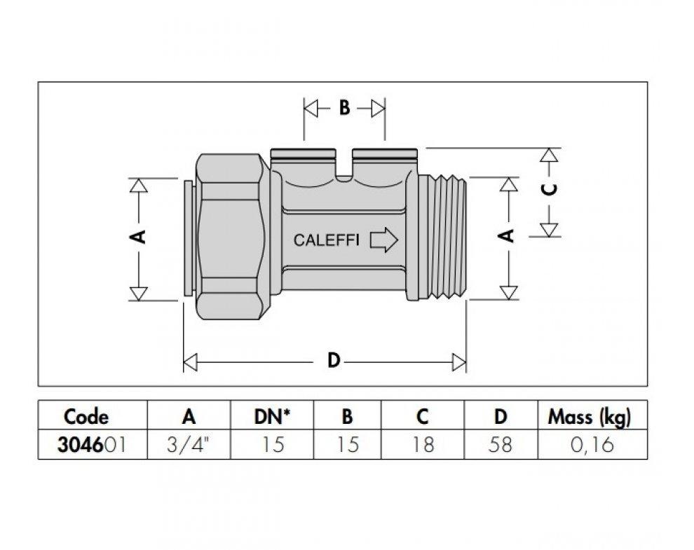 Kompaktná spätná klapka, EA typ , DN15