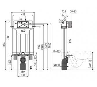 Alcamodul - Predstenový inštalačný systém ECOLOGY pre zamurovanie