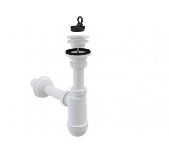 Sifón umývadlový s plastovou mriežkou d63mm, prietok 38l/min., DN32
