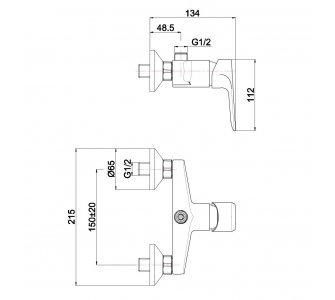 sprchový set pákovej batérie DAKOTA s tyčou IPPARI a kompletným príslušenstvom
