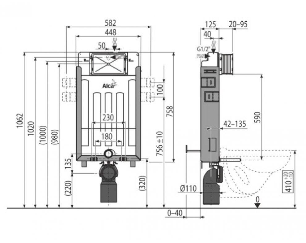 Renovmodul - Predstenový inštalačný systém ECOLOGY pre zamurovanie