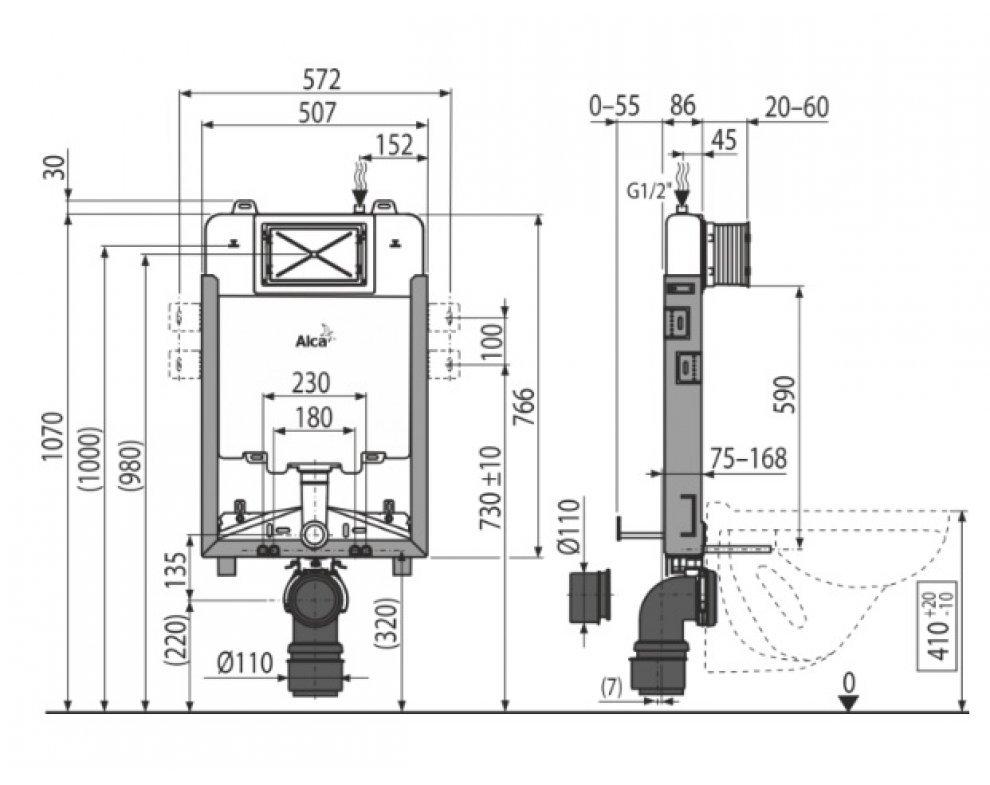Renovmodul Slim - Predstenový inštalačný systém pre zamurovanie