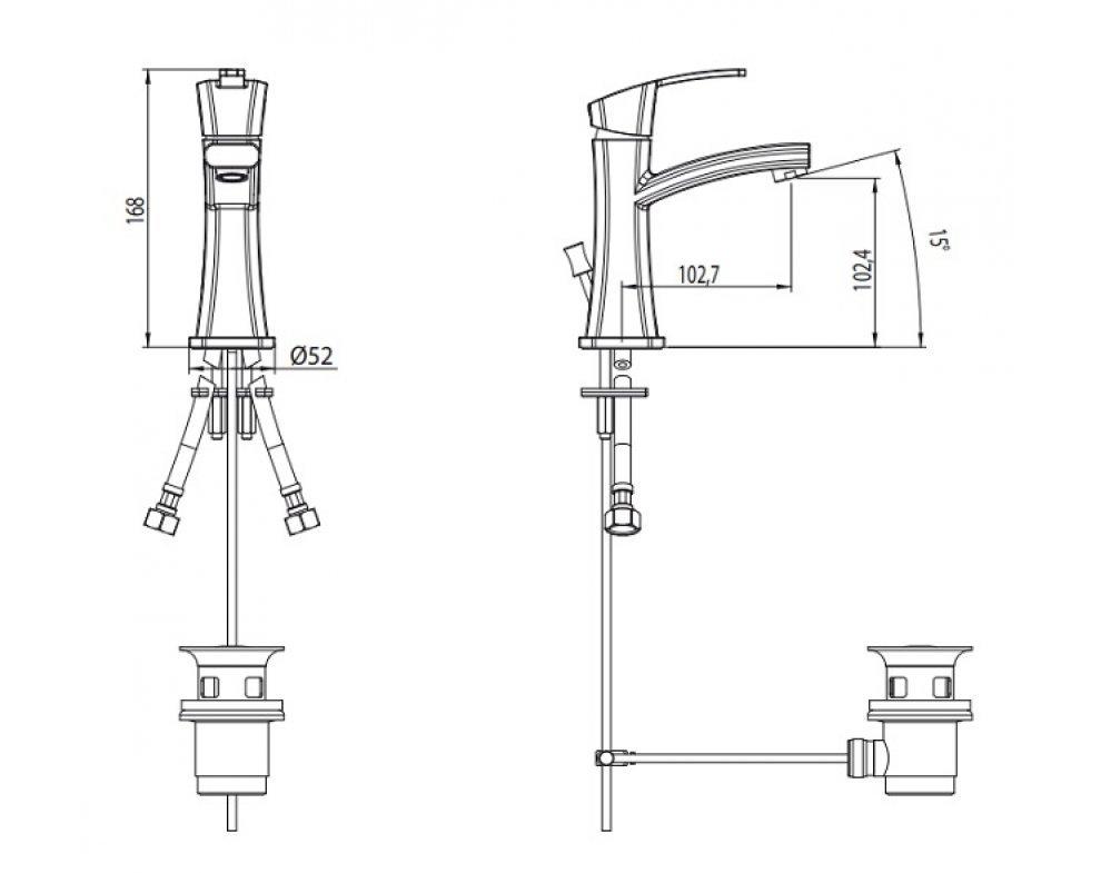 VIP batéria umývadlová stojanková bez odtok. garnitúry, OTTO