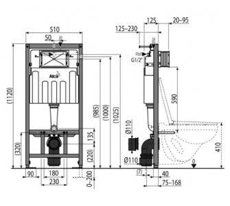 Sádromodul - Predstenový inštalačný systém ECOLOGY pre suchú inštaláciu (do sádrokartonu)