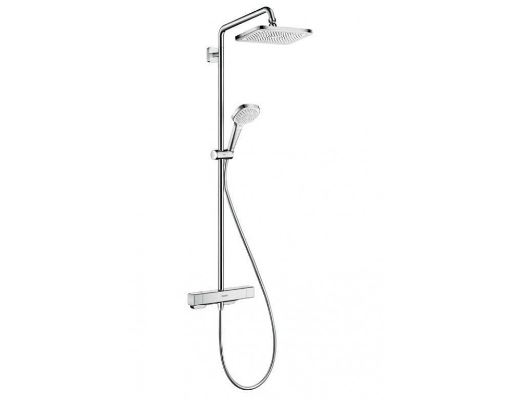 sprchový systém Showerpipe s termostatickou batériou, Ecosmart, CROMA E, chróm