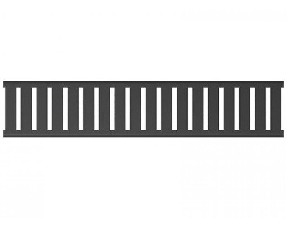 Rošt pre líniový podlahový žľab, 550mm, PURE BLACK, matný čierny