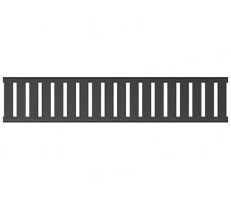 Rošt pre líniový podlahový žľab, 80mm, PURE BLACK, matný čierny