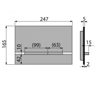 Ovládacie tlačidlo pre predstenové inštalačné systémy, nerez-čierna lesk