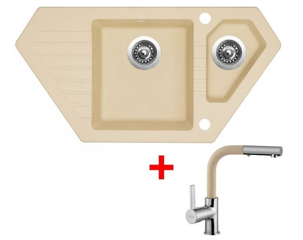 SET drez granit Sinks BRAVO 850.1 Sahara + batéria ENIGMA S GR