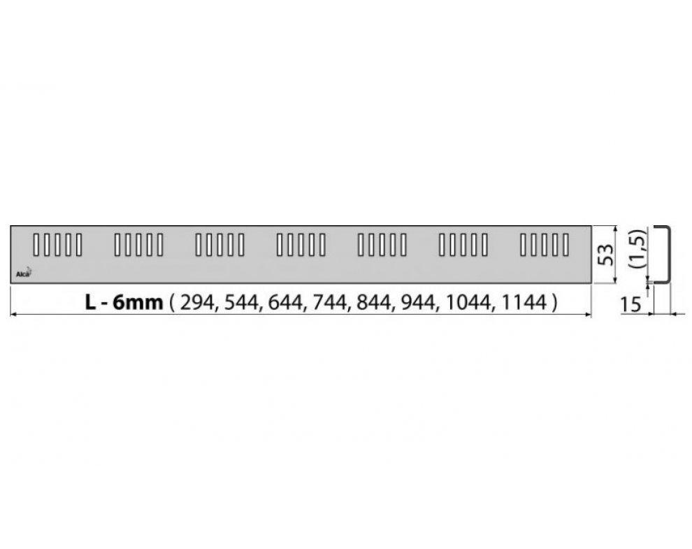 Rošt DREAM 850 mm matný