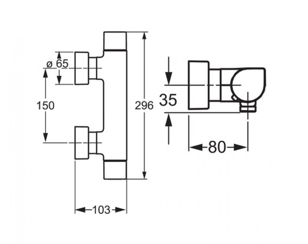 5841 0101 sprchová termostatická bat. HANSATEMPRA STYLE