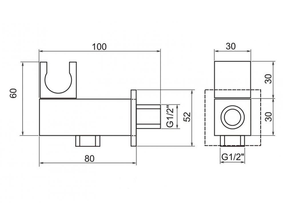 SET podomietkovej sprchovej batérie s keramickým prepínačom a sprchového príslušenstva, CINQUE