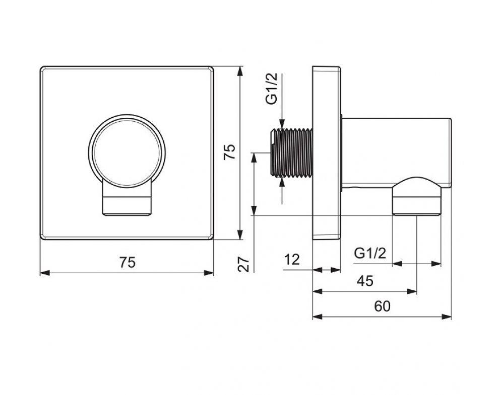SET podomietkový sprchový, HANSABLUEBOX TWIST BLACK