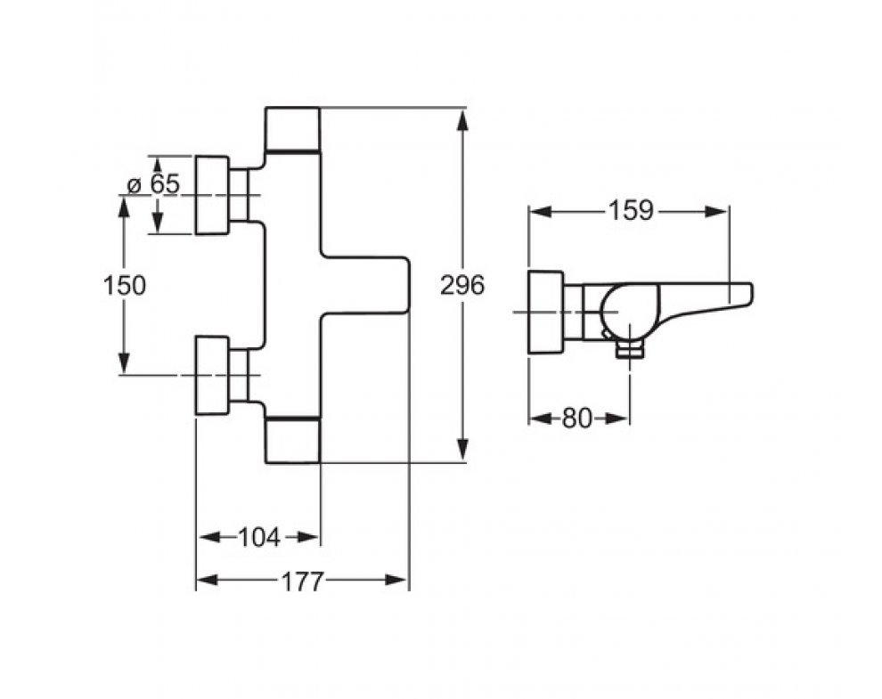 5844 2101 vaňová termostatická bat. HANSA TEMPRA STYLE
