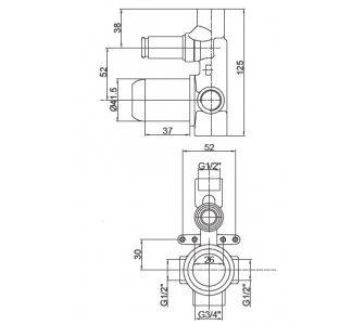 Základné podomietkové teleso pre batérie ELITE, PROJECT, FRESH, INFINITY , čierne