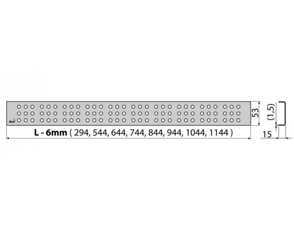 Rošt CUBE 550 mm matný