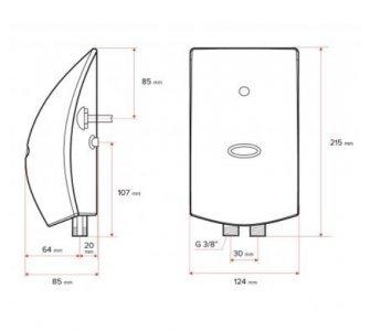 elektrický prietokový ohrievač vody PM 4,5kW s drezovou stenovou klasickou batériou SOLIS