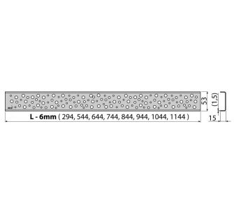 Rošt BUBLE 950 mm lesklý