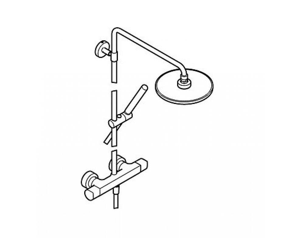 5842 9103 sprchový systém s termostatickou bat. HANSATEMPRA STYLE