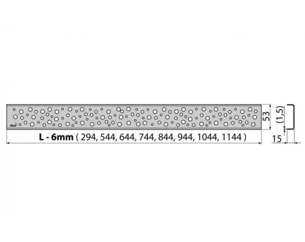 Rošt BUBLE 950 mm matný