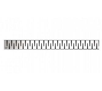 Rošt pre líniový podlahový žľab, 850mm, ZIP, nerez matný