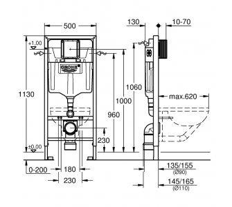 Rapid SL pre závesné WC, pre obloženie SDK