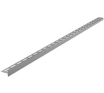 Nerezová lišta pre spádovanú podlahu, výška 12 mm, dĺžka 1000 mm, ľavá