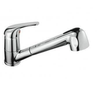 batéria drezová stojanková s výsuvnou sprchou, LUNA