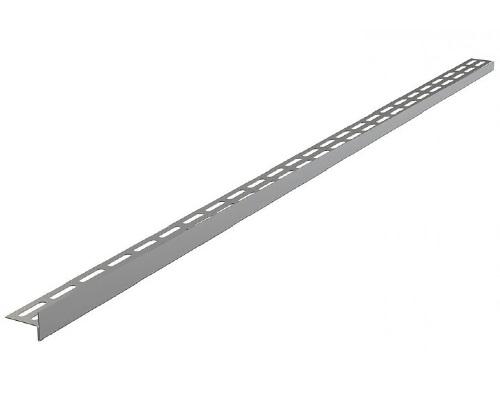 Nerezová lišta pre spádovanú podlahu, výška 12 mm, dĺžka 1000 mm, pravá