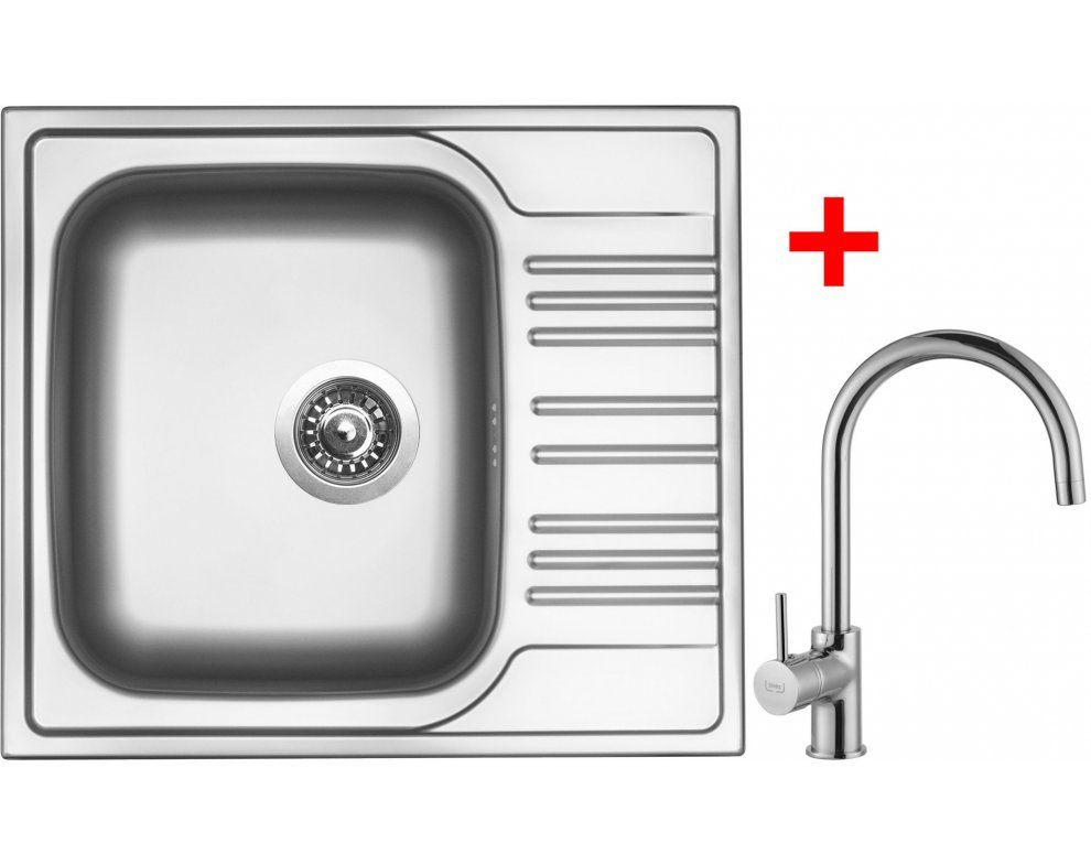SET nerez Sinks STAR 580 V+VITALIA
