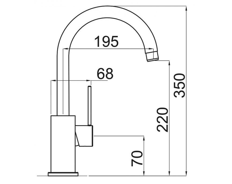 SET drez granit Sinks AMANDA 780 Titanium + batéria VITALIA GR