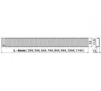 Rošt LINE 1050 mm matný