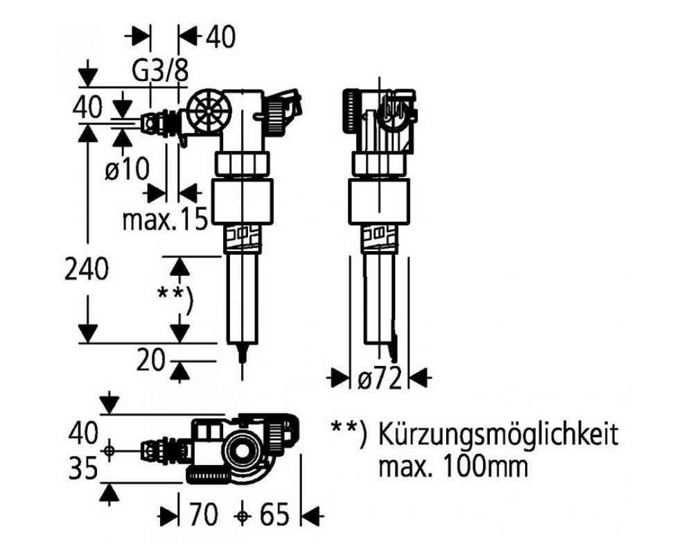 Náhradný napúšťací ventil