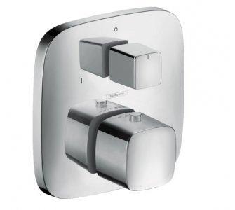 batéria termostatická podomietková, pre 2 odberné miesta, PURAVIDA, chróm