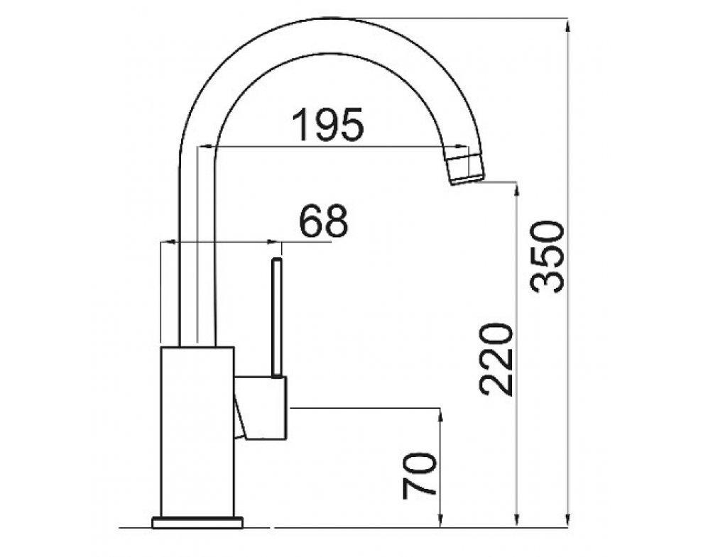 SET granit Sinks RAPID 780 Granblack+VITALIA GR