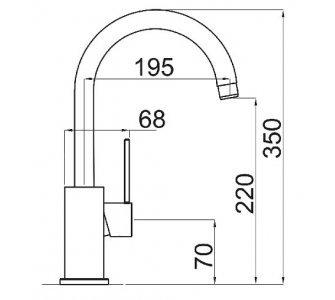 SET granit Sinks LINEA 780 N Metalblack+VITALIA GR