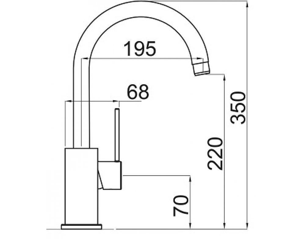 batéria drezová granitová Sinks VITALIA - 74 Metalblack