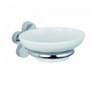 Držiak s mydelničkou, FLOS, kov+biela keramika