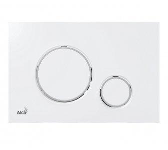 THIN - Ovládacie tlačítko pre predstenové inštalačné systémy, biela/chróm-lesk