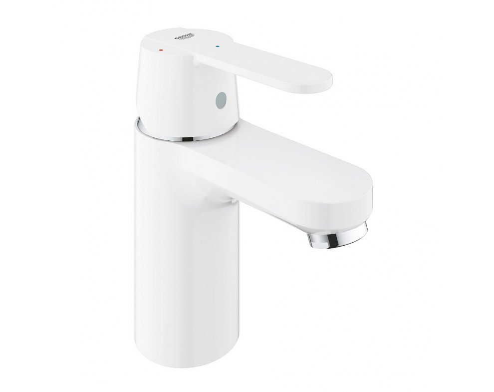 batéria stojanková umývadlová, odtoková garnitúra Push Open, GET, mesačná biela