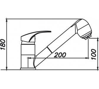 batéria drezová granitová Sinks LEGENDA S - 50 Sahara