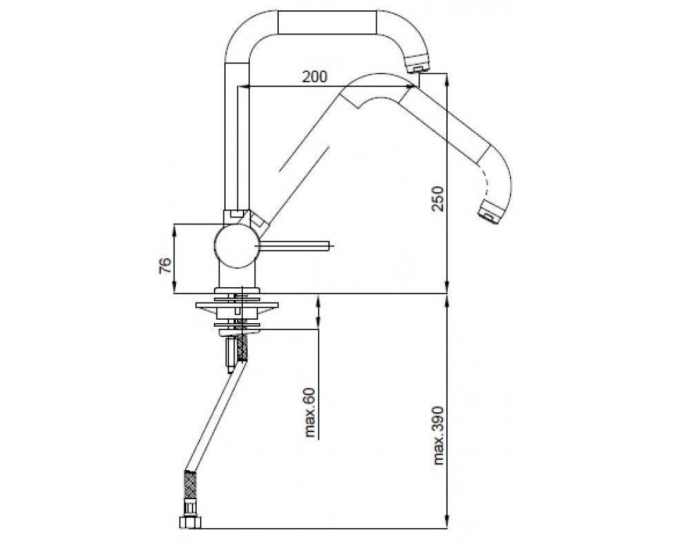 batéria drezová stojánková so sklopným ramenom, HERZ FRESH