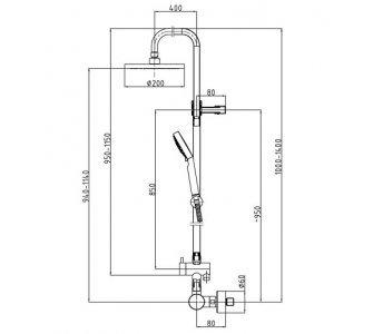Sprchový termostatický systém, HERZ FRESH